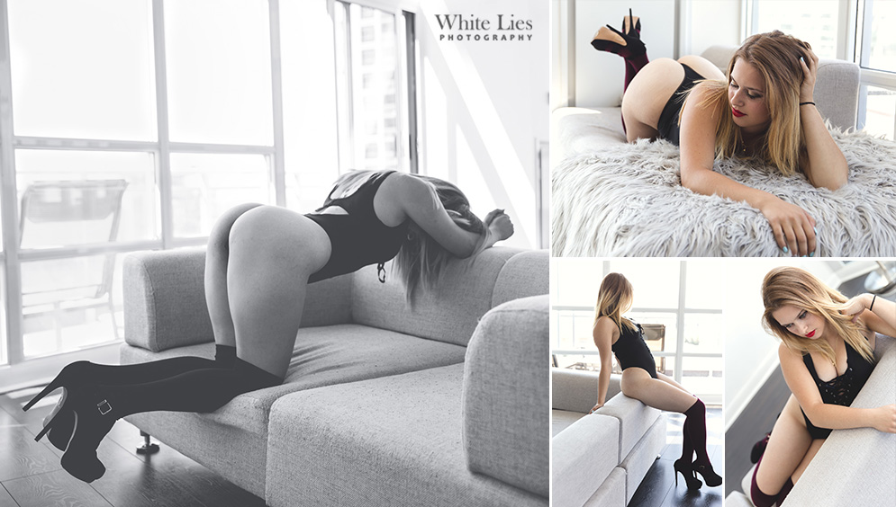 Brittney - Toronto boudoir photography White Lies